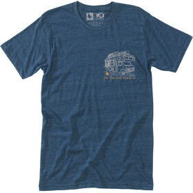 Hippy Tree Roadside Camiseta Hombre, heather navy